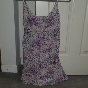 Light purple/dark purple/green sundress